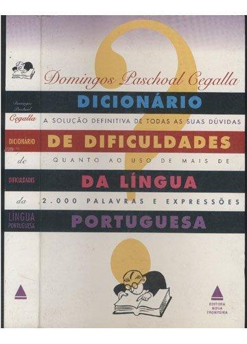 Dicionario De Dificuldades Da Lingua Portuguesa - (9788586368189 Cegalla, Domingos Paschoal