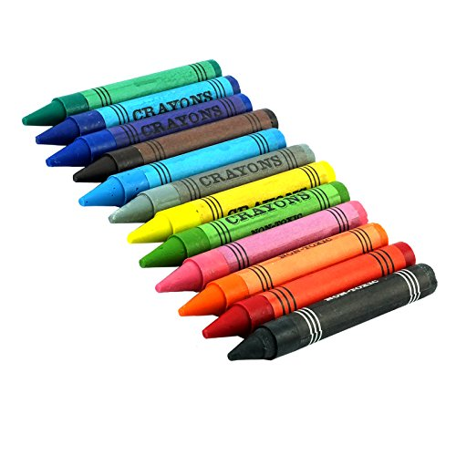 12 Jumbo Crayons Coloré Bâtonnets - PACK OF 1