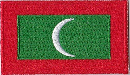 Flaggen Aufnäher Patch Malediven Fahne Flagge - 6 x 3,5 cm
