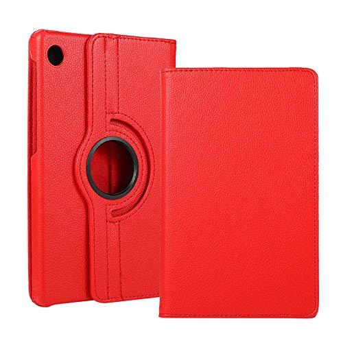 Funda para Galaxy Tab A7 10.4' 2020, rotación de 360 grados, funda con función atril con múltiples ángulos SM-T500/505/507, color rojo