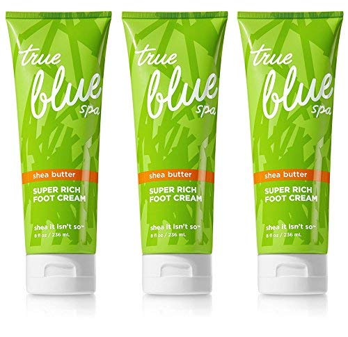 Set of 3 Bath and Body Works True Blue Spa Super Rich Foot Creams 8 Ounce Tubes