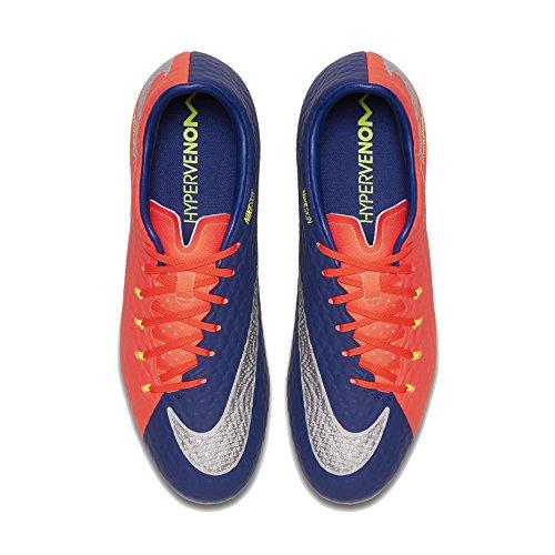 Nike Hypervenom Phelon III FG, Zapatillas de Fútbol Hombre, Multicolor (Bleuroyalprofond/cramoisitotal/zested'agrumes/Chrome), 38.5 EU