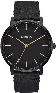 Nixon Unisex Digital Quartz Watch with Leather Bracelet - A1058-1031-00