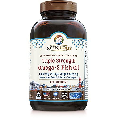 NutriGold Triple Strength Omega-3 Fish Oil Supplement
