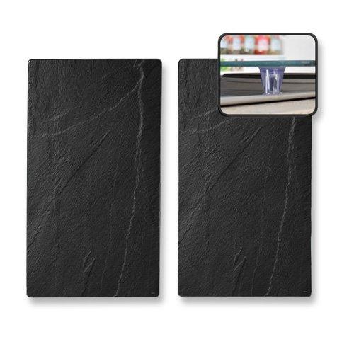 Kesper 3652313 - Tablas para cortar, cristal, 2 unidades, 52 x 30 x 0,8 centímetros, negro
