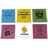 Sticky Notes Motivational Quotes - Emoji Inspiration, Lunch Box Notes. Love Letters & Words of Wisdom for Random Acts of Kindness - 5 Pads 50 Sheets/Pad (Super Pack)