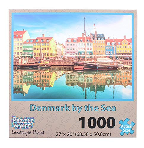 Puzzle Mate - Denmark By The Sea - 1000 Piece Jigsaw Puzzle