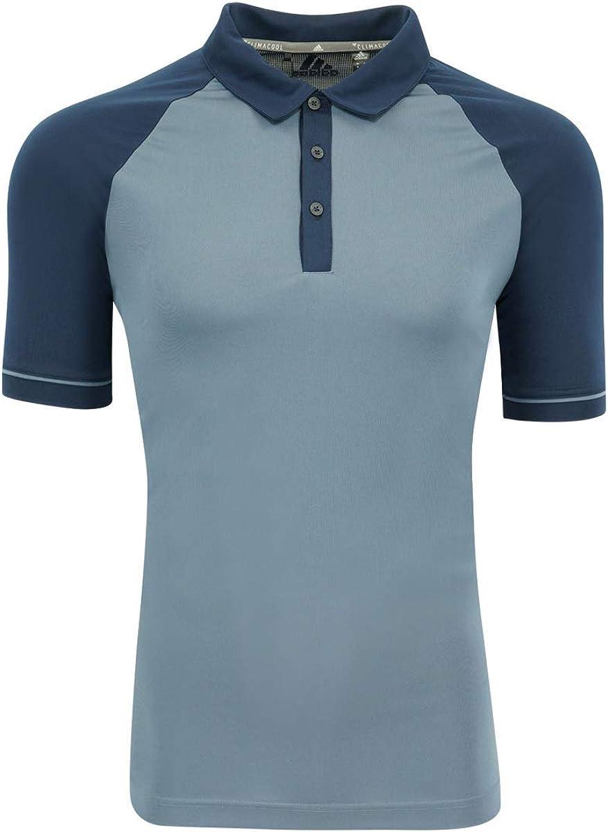adidas Mens Climacool Jacquard Raglan Polo (A207) -Collegiate -XL