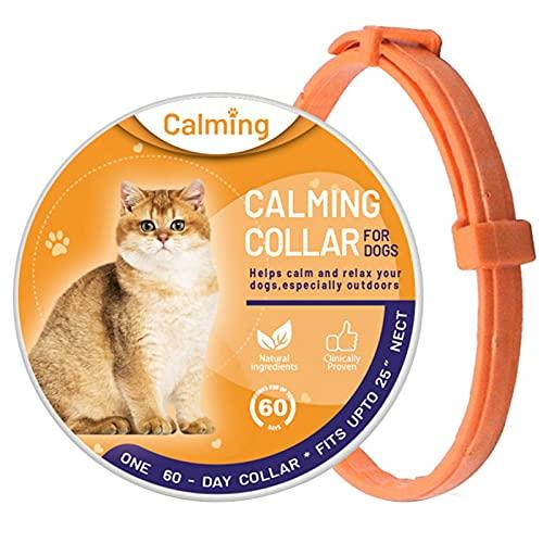 LXTDJ Collar calmante para gatos, collares ajustables y antiansiedad, resistentes al agua, para tu mascota, cuello calmado de 38 cm