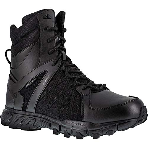 Reebok Work Mens Trailgrip Tactical 8 Inch Casual Work & Safety Shoes,Black,15