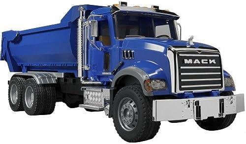 bruder 2823 Toys Mack Grünite Halfpipe Kipp-LKW, Blau