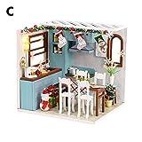 Weihnachten Weihnachtsgeschenke, DIY Cabin Cottage Handmade Puzzle Kinderspielzeug Haus Weihnachten Geburtstagsgeschenk -
