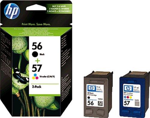 HP cartouches d'encre hP sA342AE noir 3 couleurs 57 56 lot de 2
