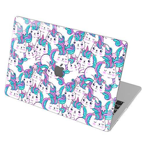 Lex Altern Hardshell Case for Apple MacBook Air 13 2020 Mac 16 2019 Pro 15 inch Retina 2018 2017 12 11 Rainbow Cat Unicorn Plastic Cartoon Touch Bar Clear Cute Kawaii Cover Protective Caticorn mch004