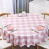 Mantel Redondo De Vinilo A Cuadros PVC Impermeable A Prueba De Aceite Mantel De Comedor Cocina Decorativo Rectangular Café Cocina Fiesta Mesa Cubierta Mapa