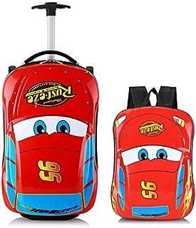 Car Kid's Travel Luggage suitcase Childred Trolley Case Cartoon Rolling Bag for School Kids Trolley Bag on wheels Boarding...