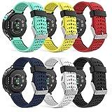 MoKo Forerunner 235/220 / 230/620 / 630/735 Correa - [6Packs] Reemplazo Suave Silicona Watch Band Deportiva Accessorios de Reloj Pulsera Ajustable con Cierre de Clip, Multicolor