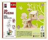 Marabu Kids-Puzzle en 3D (Madera, 37 Piezas, 28 x 26 cm), diseño de casa de árbol, Color (0317000000011)