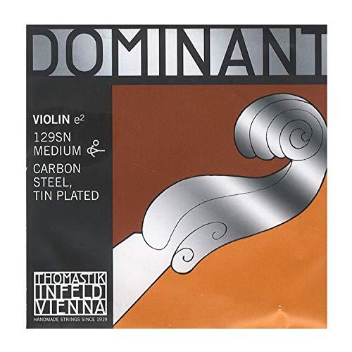 Dominant Strings 129SN in acciaio placcato in stagno, in fibra di carbonio per violino con sfera rimovibile