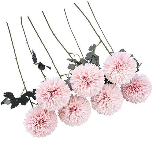 JaosWish Lot de 7 grandes fleurs artificielles en soie avec chrysanthème pour bureau, maison, mariage, Saint-Valentin, décoration de jardin, intérieur ou extérieur