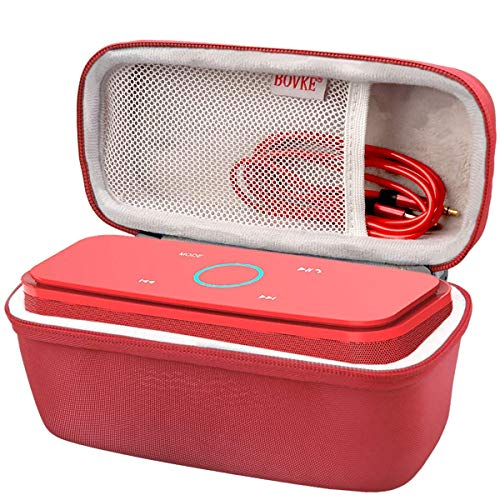 BOVKE Case for Doss SoundBox Touch Wireless Bluetooth V4.0 Portable Speaker Protective Hard EVA Travel Shockproof Carrying Case Cover Storage Pouch Bag, Red