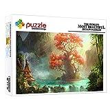 FFGHH Puzzle Enfant 1000 Pieces Puzzle en Bois Adolescents Adultes Puzzle Cadeau De La Saint-Valentin pour Enfants Adolescent Adultes Ami Arbre De Vie 75X50Cm