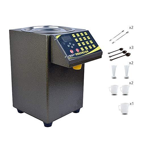 HUKOER Fructose Quantitative Machine Dispensatore di sciroppo di acciaio inossidabile Dispenser di fruttosio Bubble tea Attrezzature per Bubble Tea and Coffee (220V)