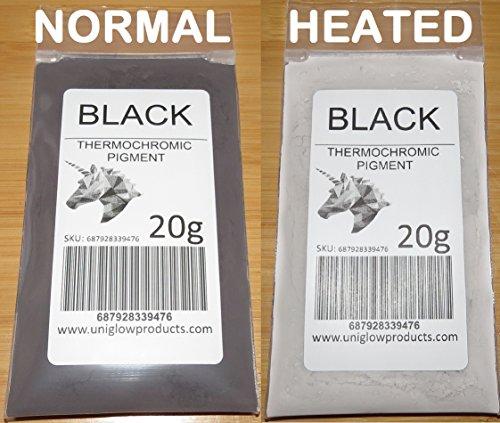 UniGlow's ThermoChromic Pigment (1g, Black)