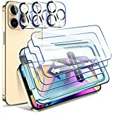 """LK 6 Pezzi Compatibile con iPhone 13 PRO Max 6.7"""" Pellicola Protettiva, 3 Pezzi Vetro Temperato e 3 Pezzi Pellicola Fotocamera, Durezza 9H, HD Schermo Pellicola, con Strumenti di Installazione"""
