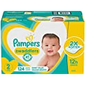 124 Count Pampers Swaddlers Disposable Baby Diapers
