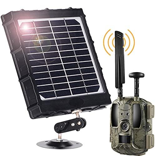 3W 6V 9V 12V Panel Solar con Nocturna Movimiento Cámara De Caza and 32GB SD Card 12MP 1080P IP66 Impermeable Tiempo Disparo 0.2 Segundos Lente Gran Angular 120 ° para Cualquier Cámara Caza