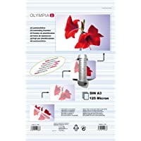 Olympia 9175 Fundas para Plastificar, DIN A3 125 micrón, 50 Unidades
