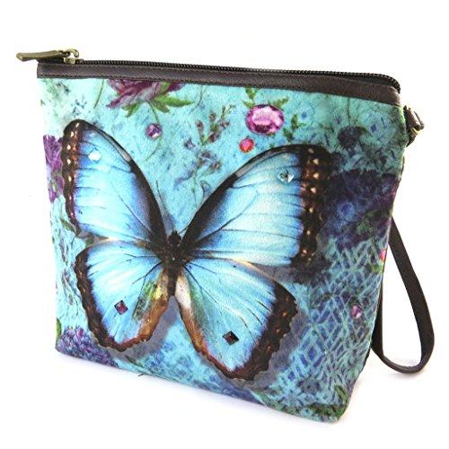 Les Trésors De Lily [N8552] - Trousse à Maquillage 'Papillon Imaginaire' Bleu - 19x16.5x5.5 cm