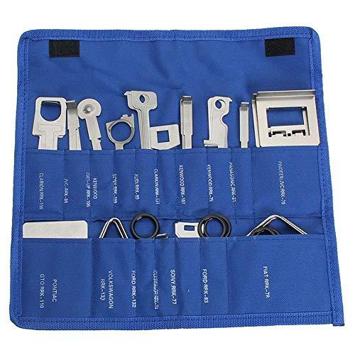 Youuzha verpakking met 38 sleutels voor het verwijderen van de autoradio. blauw
