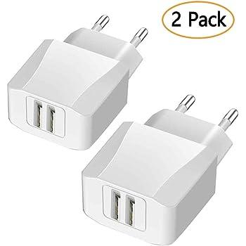 Luvfun USB Ladegerät USB Netzteil, [2-Pack] USB Stecker 2-Port (5V ...