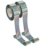 Unves 2pcs 300ft Bird Tape Ribbon, Double Sided Reflective Bird Tape