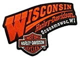 Harley-Davidson Wisconsin Harley Embroidered Emblem Patch, 5.5 x 4 inch EMCUS03