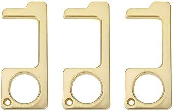 Anti-contact deuropener, 3-delige draagbare sleuteldeuropener, liftknop Sleutel handgereedschap, hygiënisch praktisch hand...