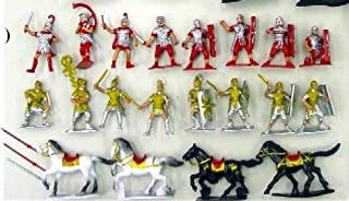 Roman SPQR Warriors Figure Playset (16 Warriors w/Shields, 4 Horses & Weapons) (Bagged) 1-32 generic