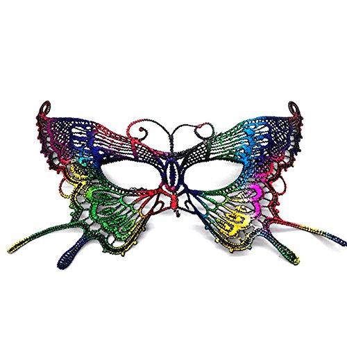 CAOLATOR.Máscara de Encaje para Mujeres Antifaz de Carnaval Halloween Disfraces Juguetes Antifaz para Veneciano Mascarada Carnaval Fiesta de Baile Accesorios…