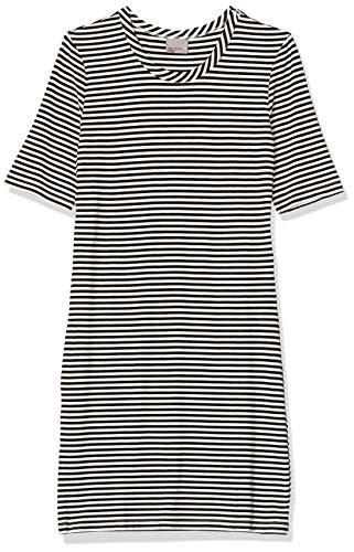 VERO MODA Damen Kleid Vmyeng 2/4 Rib Short Dress Box Jrs A, Schwarz (Black Beauty Detail:Solid), 38 (Herstellergröße: M)