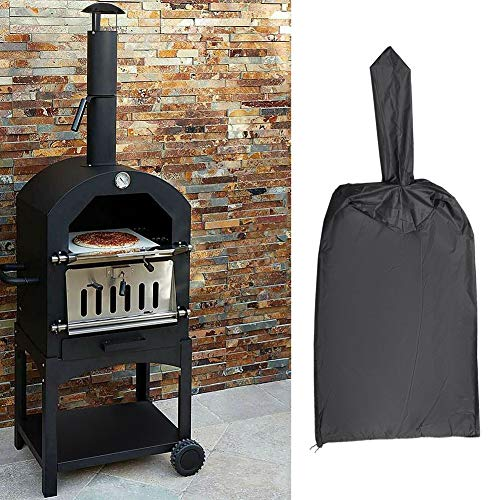 KLOP256 Pizza Oven Cover,Outdoor Waterproof Pizza Oven Cover, Oxford Fabric Practical Garden Pizza Oven Dustproof Cover