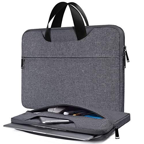 Laptoptasche für HP Pavilion x360/Chromebook 14/EliteBook 840 14, Surface Laptop 3/2 13,5, Dell Inspiron 13, Lenovo Yoga C940 C740 14 Zoll (33,5 cm), Grau