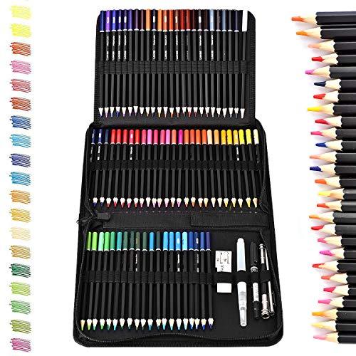 Cozywind Lapices Dibujo Artístico Bosquejo Material Set,Incluye Lápices Pastel,Grafito,Carboncillos,Bloc,Caja Portátil (78)
