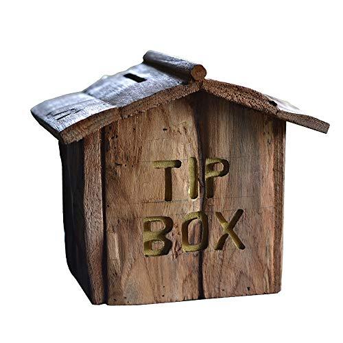 ZAKRLYB Hucha de los niños, madera resistente y duradera, madera natural, ahorre dinero, niñas y niños, hecho a mano, adulto, adecuado para escritorios, gabinetes de vino, gabinetes de TV, regalos dec