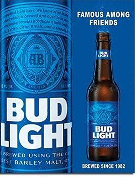Desperate Enterprises Bud Light Famous Among Friends Beer Tin Sign 12 X 16
