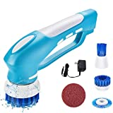 PowerDoF Scrub Brush Electric Spin Scrubber, Cordless Shower Scrubber and Handheld Power Scrubber with 4 Cleaning Brush Heads Power Brush for Tub, Tile, Floor, Sink, Window, Kitchen