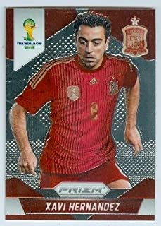 Xavi Hernandez trading card (Spain Qatari club Al Sadd SC Soccer) 2014 World Cup Prizm Chrome #180