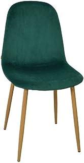 Zons Stockholm silla terciopelo escandinava 45* 55* 85cm verde