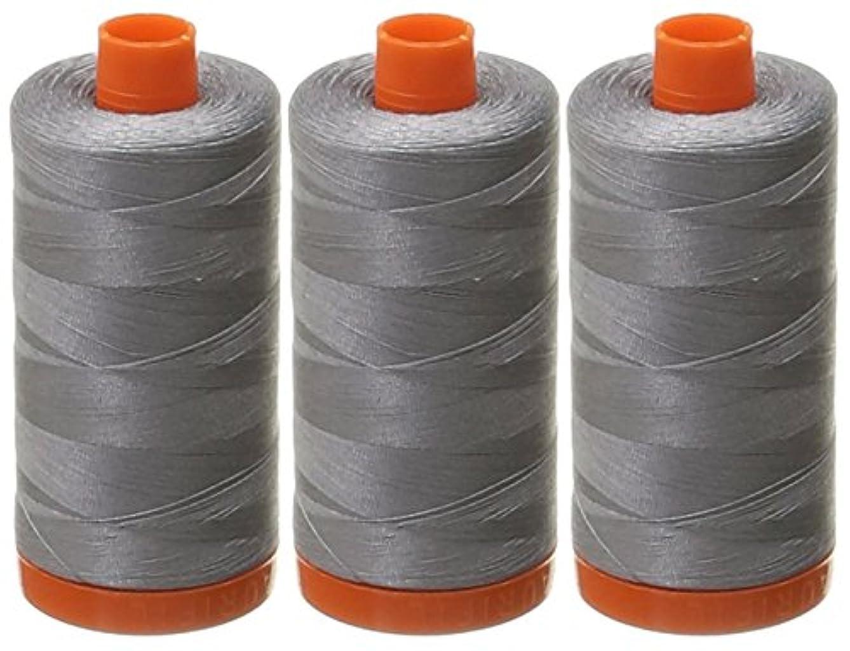 3-PACK - Aurifil Mako Cotton 50wt Thread Solid Grey 1422 Yard each
